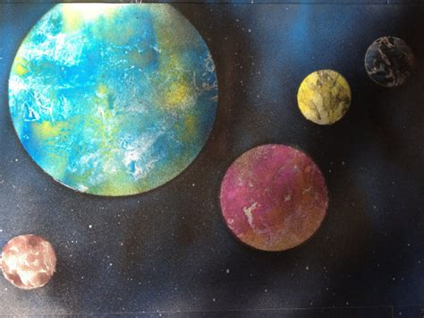 spray paint planets planets painting pics about space