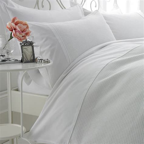 Bed Linen Waffle Luxury White Bed Linen Bedroom Company