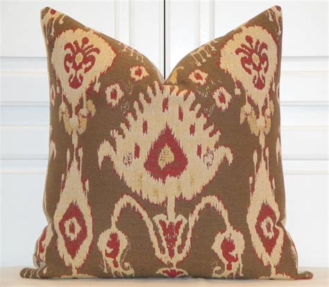 Etsy Designer Pillows by Decorative Pillow Cover Ikat Woven By Turquoisetumbleweed