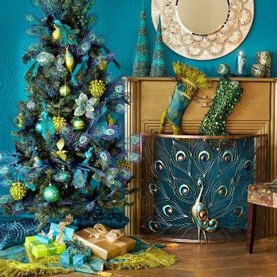 peacock christmas decor christmas pinterest