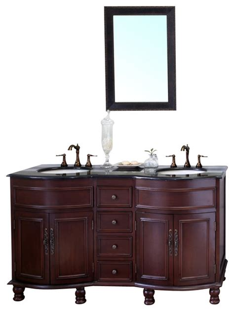 colonial bathroom vanity bellaterra 62 quot sink vanity wood colonial cherry
