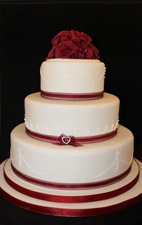 Wedding Tier Cake by Valentines Day 3 Tier Wedding Cake Cakecentral
