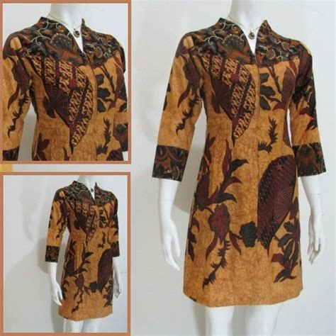 Dress Bigsize Batik dress batik modern db192 toko di kota