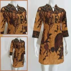 Tunik Batik Sogan Dress Wanita Batik Kantor Batik Wanita 1000 images about model dress batik modern terbaru