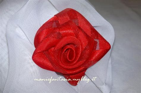 tutorial rose di organza tutorial come fare le rose con nastri di raso manifantasia