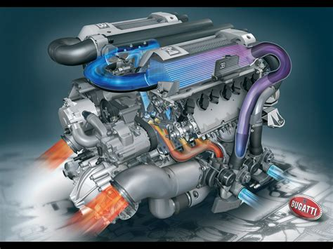 Bugati Engine by Veyron Engine Cutaway Veyron Free Engine Image For User