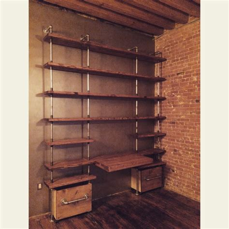 crafted custom industrial shelving unit w galvanized