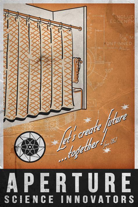 aperture shower curtain aperture science 1953 poster by dj corny on deviantart