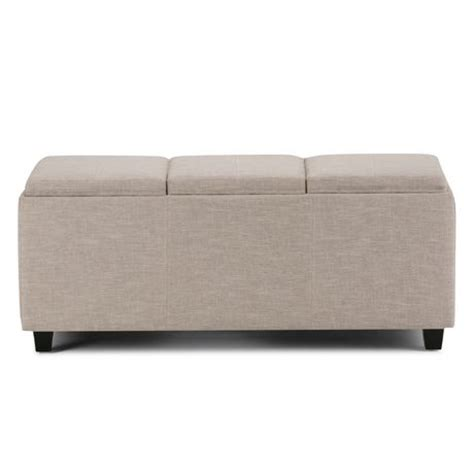 extra large ottoman storage wyndenhall franklin extra large rectangular storage