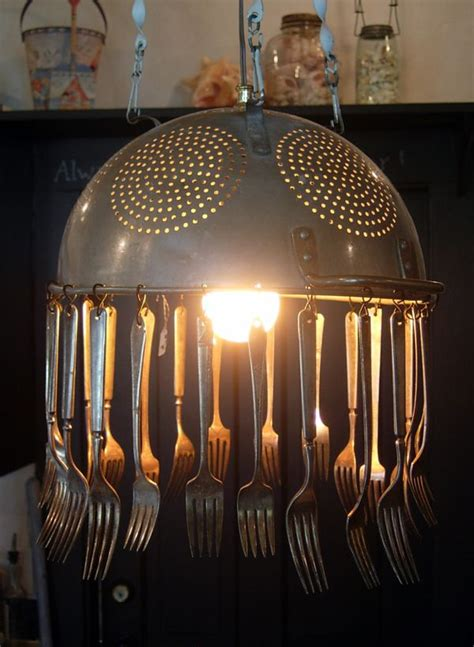 Colander Light Fixture How To Transform Simple Kitchen Utensils Into Light Fixtures