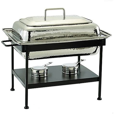 chafing dish bed bath and beyond old dutch international 8 qt rectangular chafing dish in polished