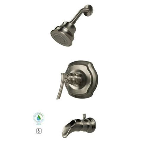 3 Handle Tub And Shower Faucet Brushed Nickel by Pegasus Bamboo Single Handle 3 Spray Tub And Shower Faucet