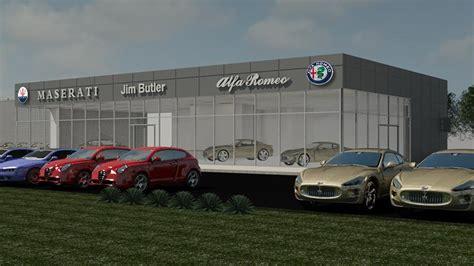 Alfa Romeo Dealership by Jim Butler Auto To Ground On Maserati Alfa