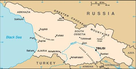 russia map armenia georgian blockade armenia to seek alternative route for