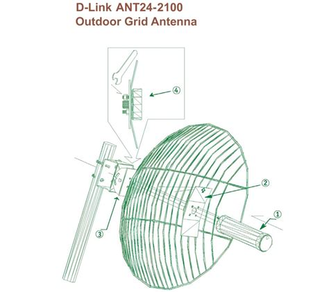 D Link Ant24 2100 Outdoor 21dbi Gain Directional Antenna Protector ant24 2100 2 4ghz 21dbi high gain directional outdoor grid antenna philippines
