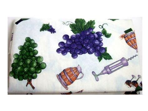 grapes and wine home decor tuscan tablecloth wine and grapes