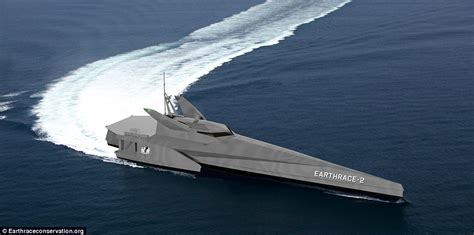 trimaran around the world eco craft will hunt down poachers and hunters fishing
