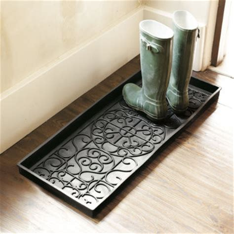 rubber st storage rubber boot tray traditional shoe storage by ballard