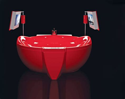 red bathtubs 5 cool bathtubs with built in tvs digsdigs