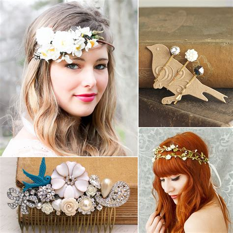 Wedding Hair Accessories Australia by 40 Bridal Hair Accessories From Etsy Popsugar