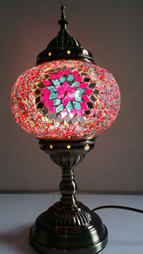 Turkish Moroccan Handmade Mosaic Glass Table L Hand Handmade Lights