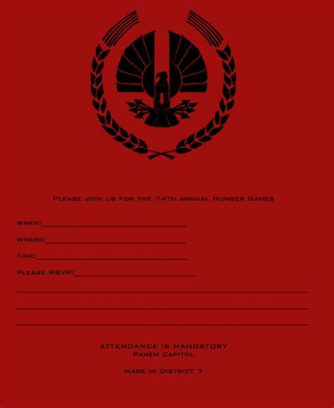 printable hunger games hunger games party party ideas inspiration pinterest