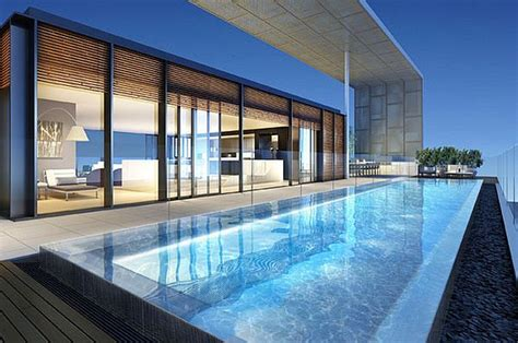 luxury penthouse with terrace and swimming pool for sale in tribeca stunning australian inner city penthouses