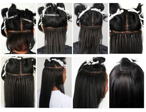 proper hair extensions step by step of proper placement of a mix of tony odisho