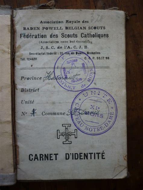 le prix d un carnet carnet d identit 233 d un scout 1941 broc en guche