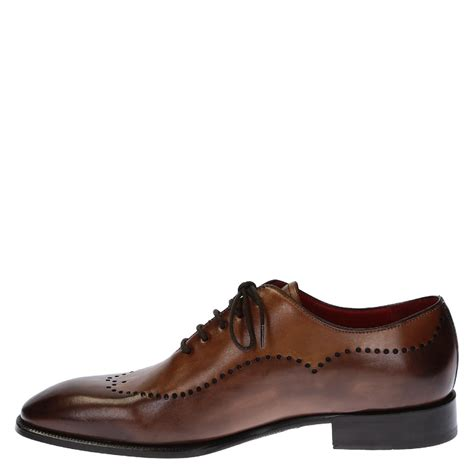oxfords shoes handmade s oxfords shoes in brown leather leonardo