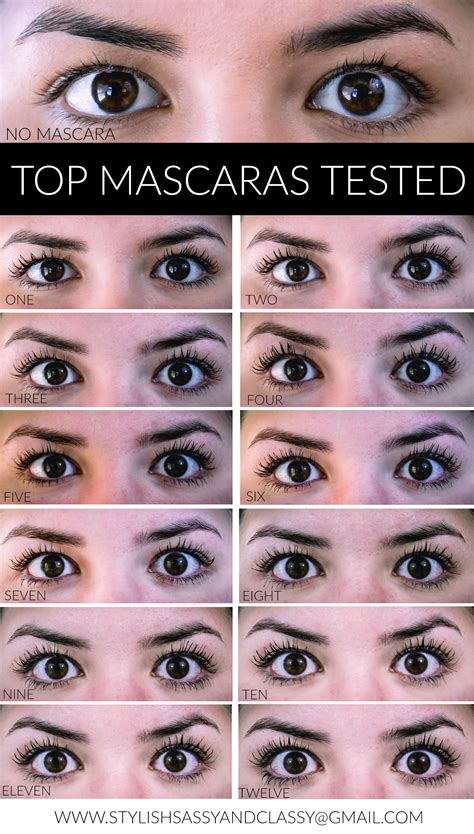 7 Great Mascaras For by Top Mascaras Tested Stylish Sassy