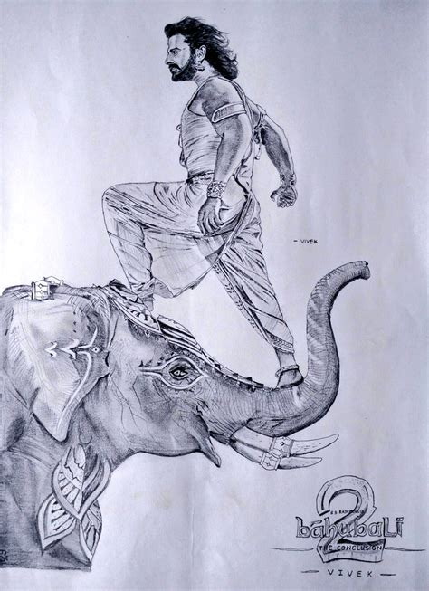 Bahubali 2 Sketches by World Baahubali Fans On Quot Fabulous Pencil Sketch