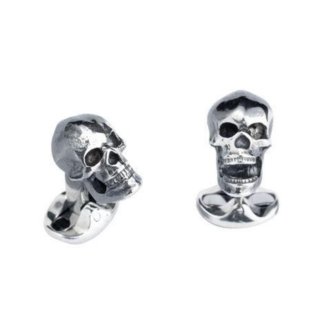 Cufflinks Cufflink Kancing Manset Silver Skull deakin francis silver skull cufflinks