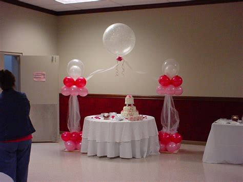 simple ballon decoration with sweet cake side simple glass