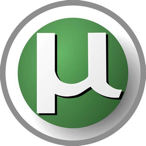 blue utorrent free vector graphic torrent logo utorrent free image