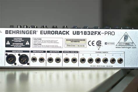 Mixer Behringer Ub1832fx Pro behringer eurorack ub1832fx pro image 764706 audiofanzine