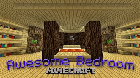 awesome minecraft bedrooms minecraft how to make an awesome bedroom design youtube
