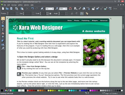 xara web design tutorial xara web designer 6 tutorials for microsoft