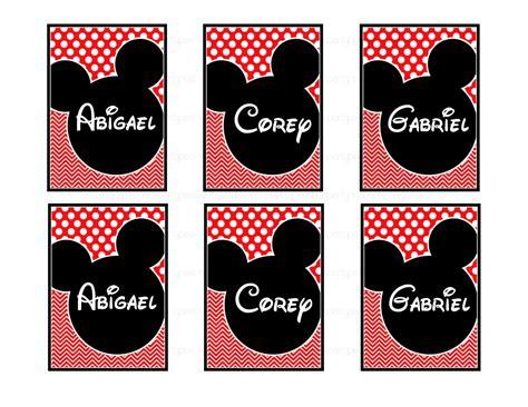 printable mickey mouse name tags mickey mouse luggage name tag printable disney inspired