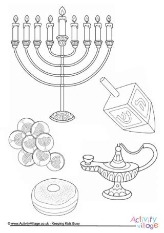 hanukkah gelt coloring pages family menorah colouring page