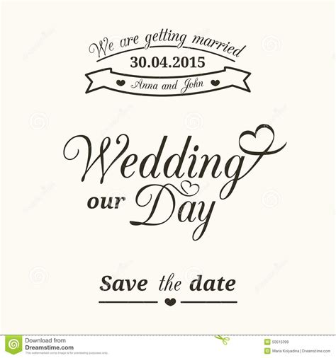 typography wedding invitation wedding typography stock vector illustration of label