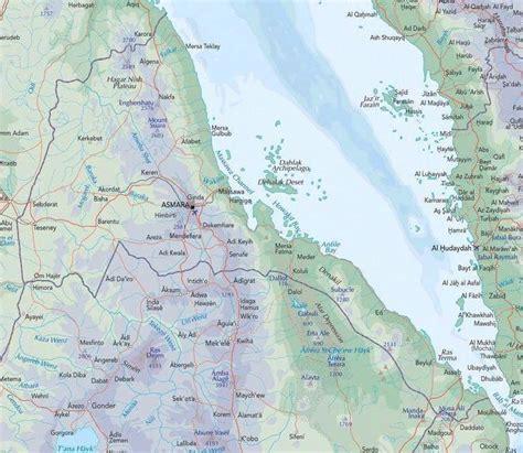 eritrea map eritrea map