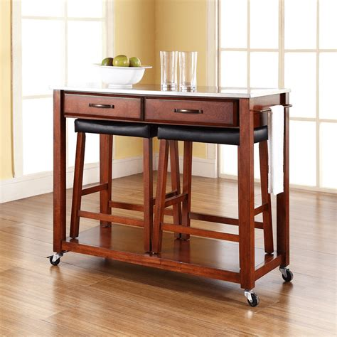 kitchen islands and stools kitchen island cart with stools