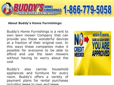 buddy s home furnishings is the best rent to own lawn