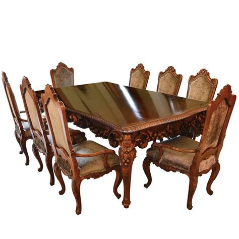 Antique Dining Table And Chairs For Sale Antique Italian Dining Room Set With Table Chairs Buffet Consoles Credenza For Sale At 1stdibs