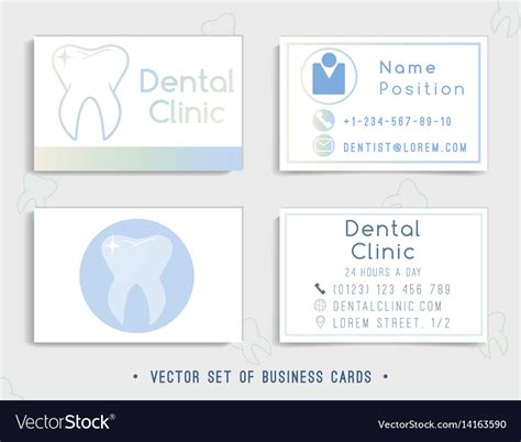 Dentist Business Card Template Free by Dental Business Card Template Design Royalty Free Vector