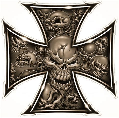iron cross skull tattoo iron cross tattoos trash polka and