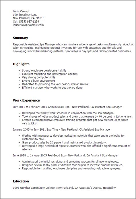 Salon Manager Resume by Salon Manager Resume Hairdresser Description