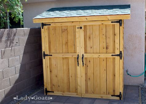 small outdoor storage closet 10 charming diy outdoor storage ideas garden lovers club