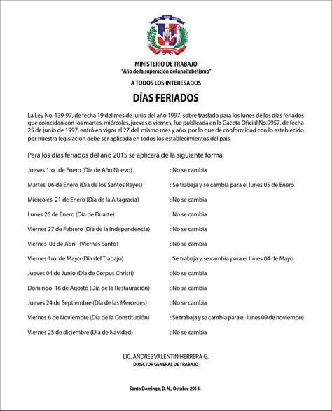 Calendario 2018 Republica Dominicana Calendario 2015 Reservas